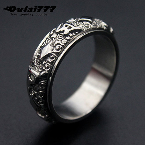 oulai777 mens rings punk wholesale lots bulk stainless steel punk male ring accesories vintage phalangeal ring for men jewelry
