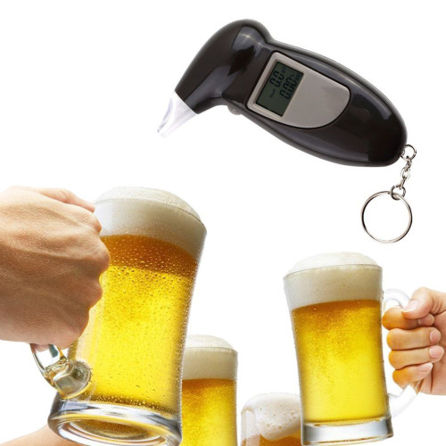2018 Professional Digital Alcohol Breath Tester Breathalyzer Analyzer Detector Breathalizer Breathalyser Device LCD Display