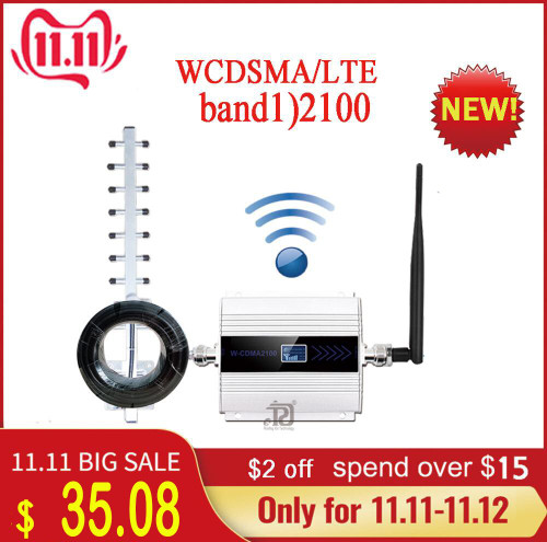 2100 (LTE Band 1) WCDMA UMTS 3G Mobile Signal Booster 4g signal booster 3G (HSPA) WCDMA 2100MHz 3g signal Cellular amplifier