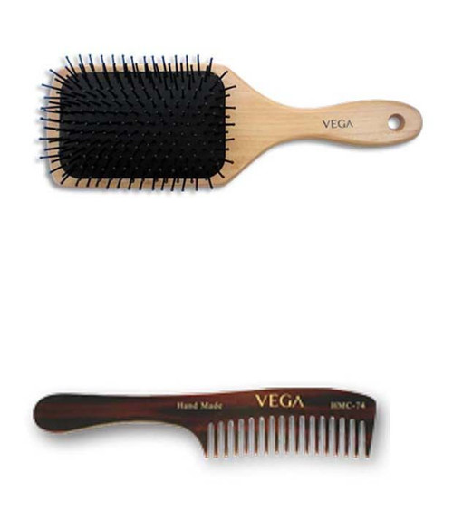 vega hair brush + hair comb