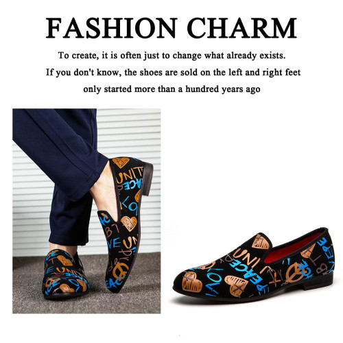 MEIJIANA Fashion Casual Shoes Men Loafers Brand Men Shoes 2020 New Colorful Graffiti Party Shoes