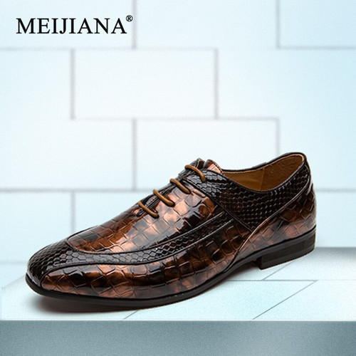 Men's pure Oxford ace wedding party Classic leather MeiJiaNa men's dress brown dress shoes