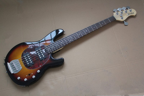 Top Quality black Music Man StingRay 5 strings Electric bass Guitar with initiative to pickups bass guitar musical instruments