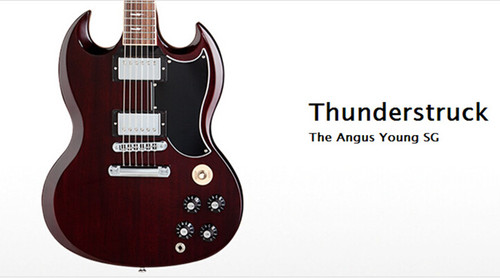 Wholesale and Retail Angus Young SG Guitar AC/DC Inlaids Rosewood Fretboard China Guitar & Music Instruments