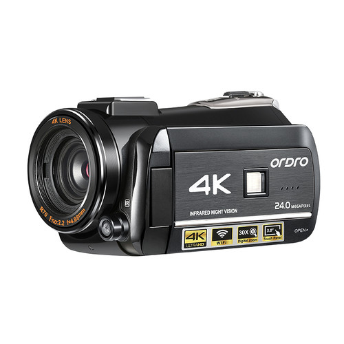 4K Camcorder Video Camera with Night Vision Ordro AC3 60FPS 30X Digital Zoom IPS Touch Screen Filmadora Vlog Camera