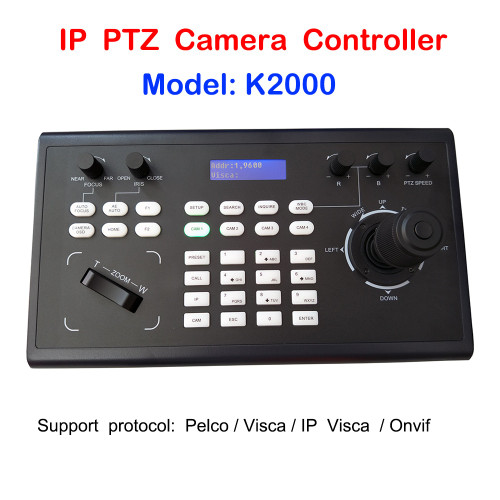 Professional PelcoD Visca Onvif 3D Joystick IP PTZ Keyboard Controller RS485 RS232 for Video Conference PTZ Camera