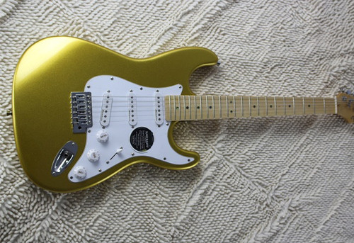 Chinese Electric Guitars ST 2017 New Arrival Music Instruments Surf yellow Maple Fingerboard Free Shipping
