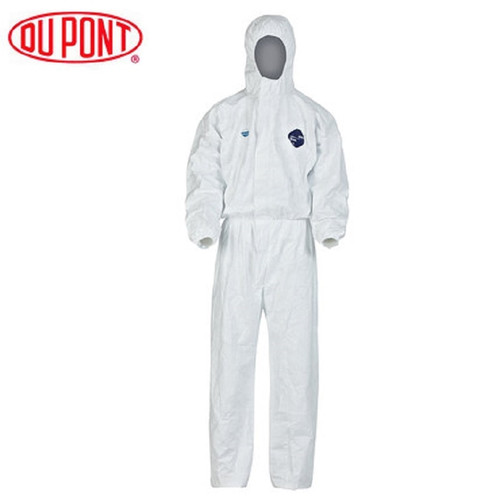 1422A Dupont Tyvek Protective Coverall Disposable Elastic Cuffs Attached Hood Anti-static Chemical Splash Clothes Anti Dust