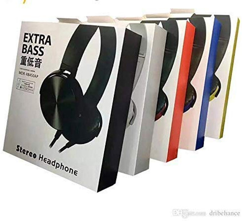 Extra Bass MDR-XB450AP Headphones with Microphone and Volume Control, Ultra-Deep-Bass Adjustable Lightweight Headset
