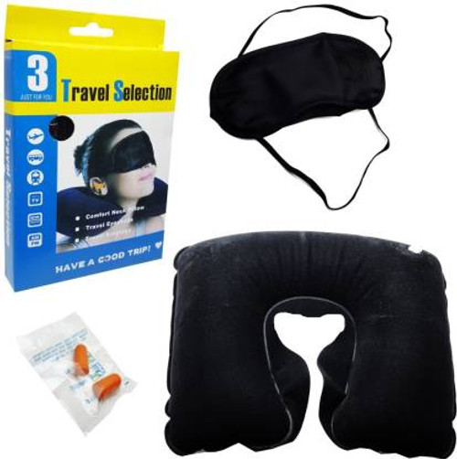 anujbansal 3 IN 1 TRIP TRAVEL KIT Neck Pillow & Eye Shade (Multicolor) Neck Pillow & Eye Shade