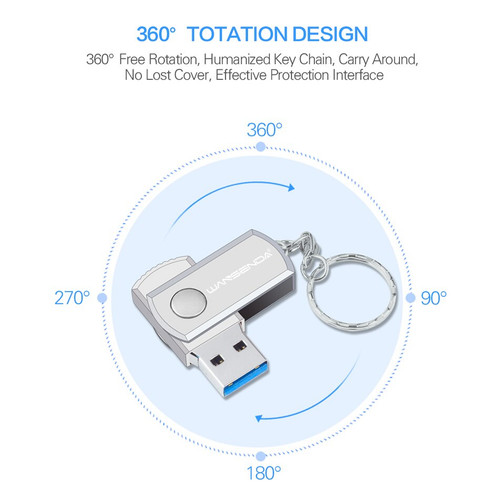 New WANSENDA usb 3.0 Usb Flash Drive Rotation Pen Drive 16GB 32GB 64GB 128GB 256GB Pendrive USB 3.0 Flash Drive Memory Stick