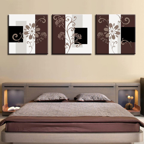 Canvas Pictures Paintings Prints 3 Pieces Patchwork Lace Background Poster Wall Art Hotel Modular Hallway Home Decor Framed