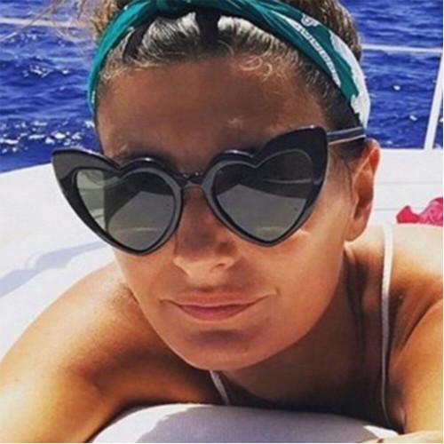 NEW Women Driver goggles Retro Fashion Heart-shaped Shades Sunglasses Integrated UV Glasses Anti-UV Glasses