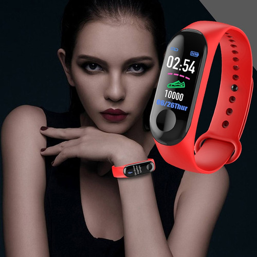 Fitness M3 Color Screen Smart Sport Bracelet Activity Running Tracker Heart Rate For Children Men Women Watch For IOS Android