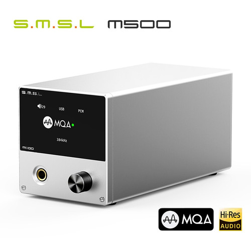 SMSL M500 DAC MQA ES9038PRO ES9311 XMOS XU-216 32bit 768kHz DSD512 Hi-Res Audio Decoder & Headphone Amplifier