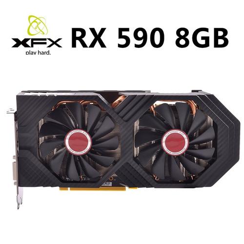 NEW XFX RX 590 8GB 256bit GDDR5 8000Mhz 2304 1580MHz OC1600MHz desktop pc gaming graphics cards video card RX590 GDDR5