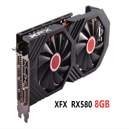 Used XFX RX 580 8GB 256bit GDDR5 desktop pc gaming graphics cards video card not mining