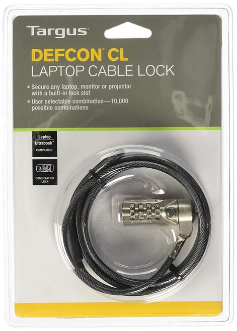 Targus Defcon PA410B-61 CL Digit User Laptop Cable Lock (Metallic)