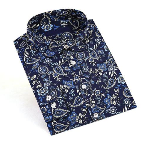 Dioufond Women Floral Blouses New Long Sleeve Turn Down Collar Shirt Print Blouse Women Casual Vintage Cotton Tops Plus Size 5XL