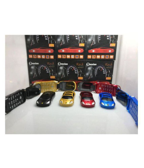 Snexian Rock Car Style Dual Sim Card Size Mobile With Bluetooh Dialer/ Camera/ FM And Multi Color LED Light