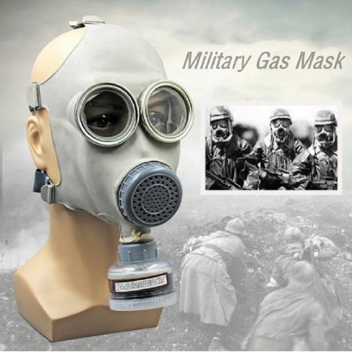 Military Gas Mask 64 Full-face Respirator Painting Spray Pesticide Natural Rubber Mask Chemical Prevention 0.5M Pipe Filters