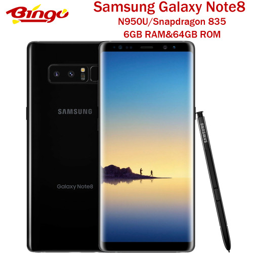"Samsung Galaxy Note8 N950U Note 8 Original Unlocked LTE Phone Snapdragon 835 Octa Core 6.3"" Dual 12MP 6GB&64GB Fingerprint NFC"