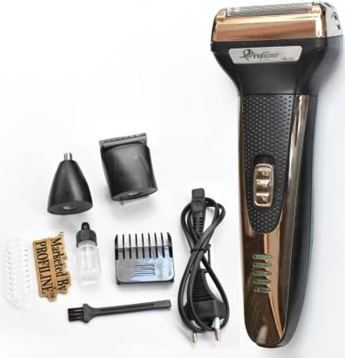 Profiline GM-598 3in1 Shaver Hair Beard Moustache Hair Cutting Machine Shaver