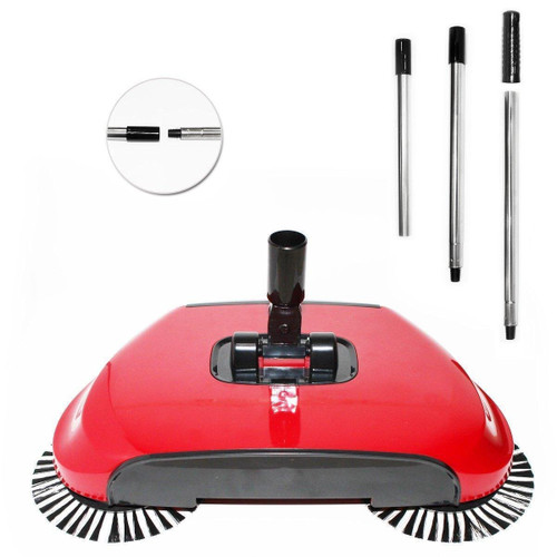 Sweeper Automatic Multipurpose 360 Degree Rotating Brush Spin Hand Push Broom Sweeper Dust Collector Floor
