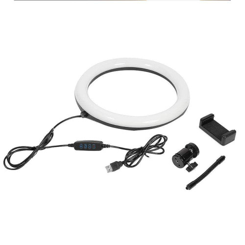 10 Inch Selfie Ring Light with Cell Phone Holder,Tenlso Dimmable Selfie Fill Light with 120pcs LED Light for iPhone, IPad, Android, Tablet, Laptop, Camera Video