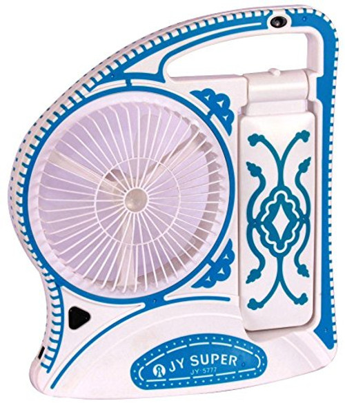 Portable Fan With Emergency Light Rechargeable 12inch - JY-5777