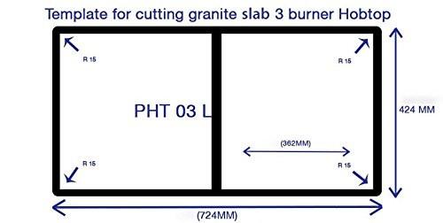 Prestige Schott Glass 3 Burner Gas Stove, Auto Ignition, Black/White