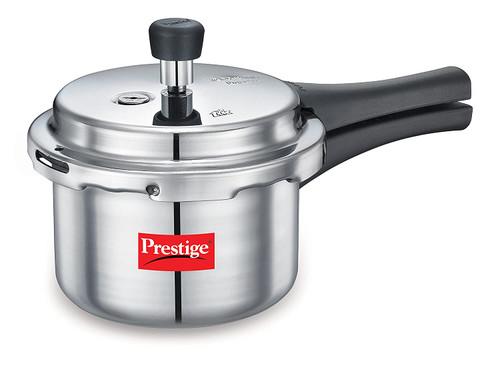 Prestige Popular Aluminium Pressure Cooker, 1.5 Litters - Non Induction Base