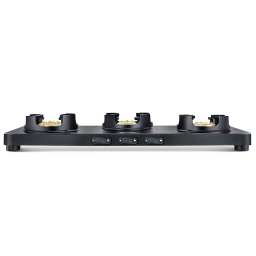 Prestige Edge Schott Glass 3 Burner Gas Stove, Manual Ignition, Black