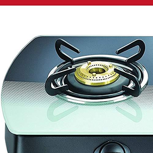 Prestige Premia Schott Glass 3 Burner Gas Stove, Manual Ignition, Multi-color