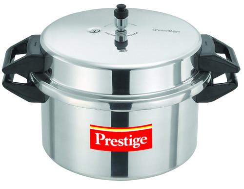 Prestige Popular Aluminium Pressure Cooker, 16 Litres, Silver