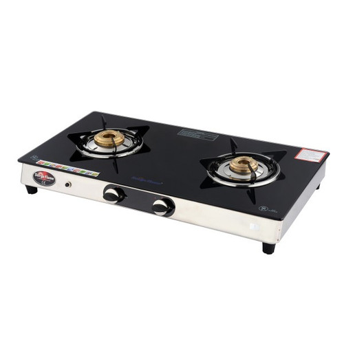 SURYA FLAME 2B EXCEL BLK SS AUTO GAS STOVE