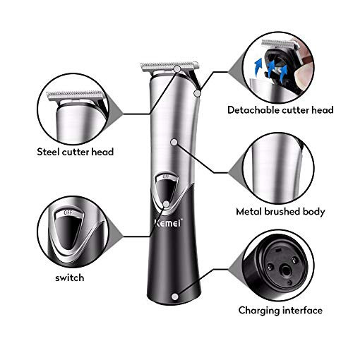 Kemei PG105 Electric Hair Trimmer Professional Barber Hair Cutting Clipper Engraving Beard Clipper Haircutting Shaver