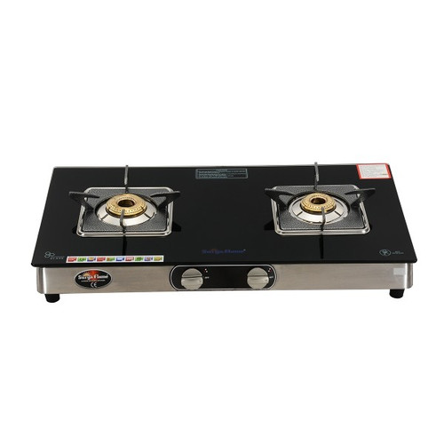 SURYA FLAME 2B BELLO BLK SS AUTO GAS STOVE