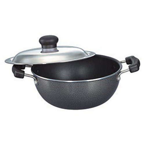 Prestige Omega Select Plus Flat Base Kadai 200 mm with SS Lid