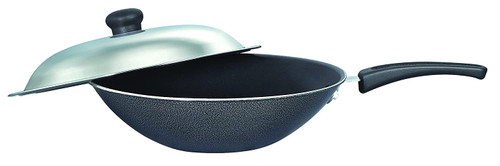 Prestige Omega Select Plus Residue Free Non-Stick Chinese Wok with Lid 30cm