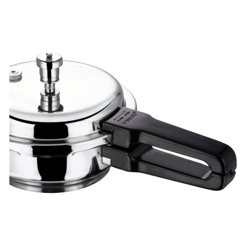 Vinod 18/8 Stainless Steel Pressure Pan With Lid - Junior (Induction Friendly)