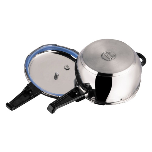 Vinod 18/8 Stainless Steel Splendid Plus Pressure Cooker - 6.5 Ltr (Induction Friendly)
