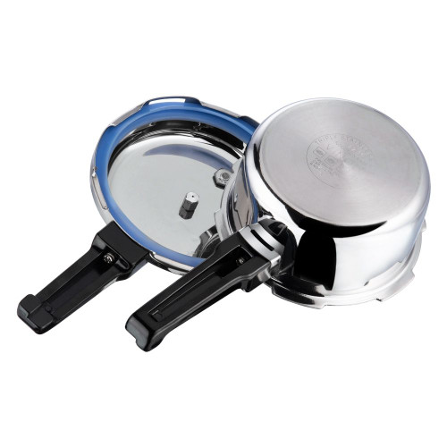 Vinod Platinum Triply Stainless Steel Pressure Cooker - 2 Ltr (Induction Friendly)