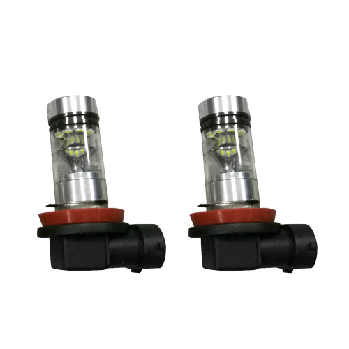2PCS Universal Car H8 H11 6500K 100W 20LED HID White 2323 Fog Driving DRL Light Bulbs White Automotive Fog Lights