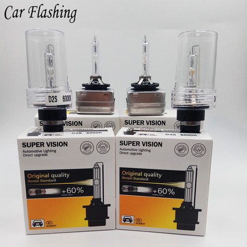Car Flashing 2Pcs D1S D2S D3S D4S HID Bulbs HID xenon headlight D1 D2 D3 D4 D1R D2R D3R headlamp light 4300K 6000K 8000K 10000K