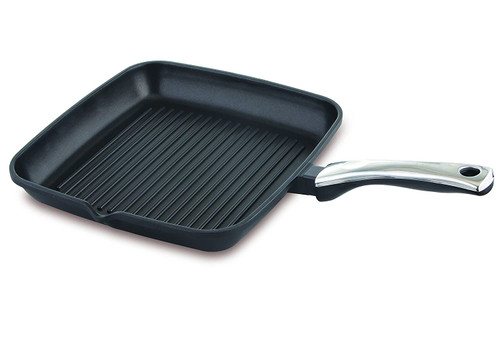 Prestige Die Cast Plus Square Grill Pan 280mm Black