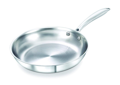 Prestige Induction Base Stainless Steel Fry Pan 220mm Silver