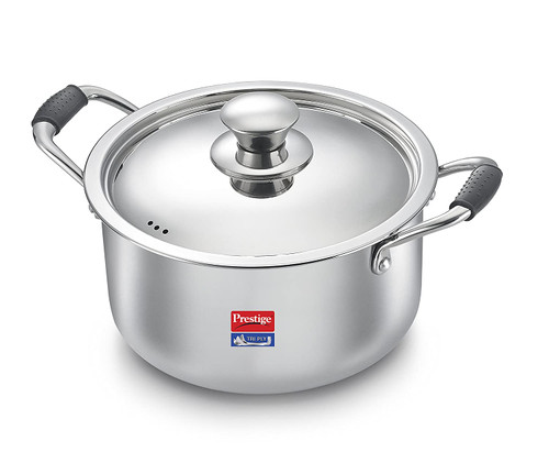 Prestige Induction Base Stainless Steel Casserole 200mm Silver