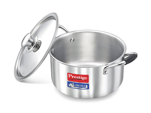 Prestige Induction Base Stainless Steel Casserole 240mm Silver