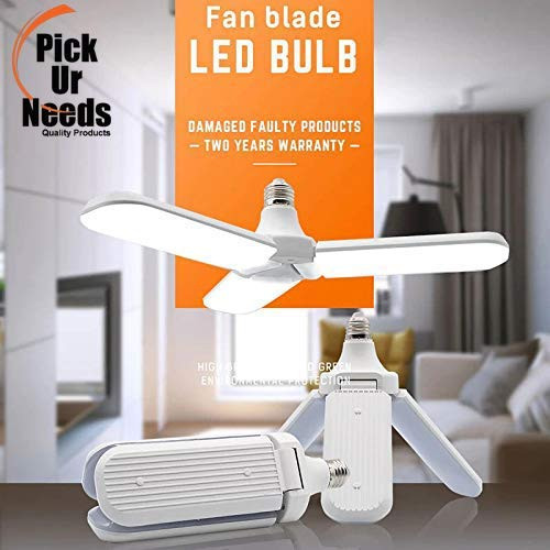 Pick Ur Needs™ B22 Foldable Light, Fan Blade LED Light Bulb, Super Bright Angle Adjustable Home Ceiling Lights, AC95-265V, Cool White Light (45) (Fan blade)